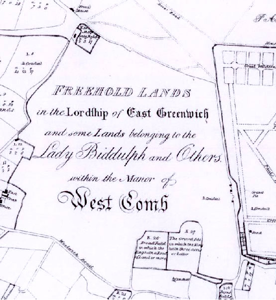 Map of the Manor of West Comb - 1697