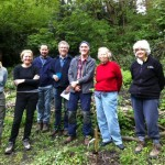 Some of today's volunteers standing in The Glade area.