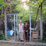 Mayor of Greenwich standing at the new woodland gate entrance